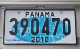 Panama License Plate - 2010
