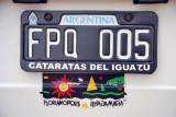 Argentina License Plate - Cataratas del Iguazú
