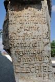 Detail of the scroll held by the Prophet Ezekiel