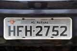 Brazil License Plate - Mariana, Minas Gerais (MG)