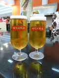 A couple of beers at the food court, Belas Shopping