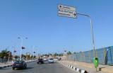 Turn-off onto Rua da Fapa for Luanda Airport