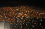 Flying over São Paulo, Brazil, at night