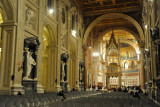The 65m wide nave of St. John Lateran