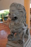 Chinese lion at the entrance to Al Ain Zoo