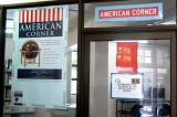 The American Corner of the National Library is the only part air conditioned