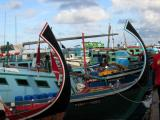 Dhonis at the Fishing Harbor on the north side of Male'