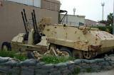 Iraqi anti-aircraft guns and armored vehicle