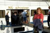 Debbie and the M/S Nile Adventurer reboarding at Edfu
