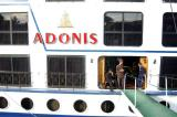 The M/S Adonis tied up next to us at Kom Ombo