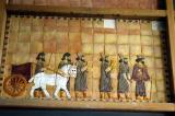 Ancient Persian soldiers and chariot