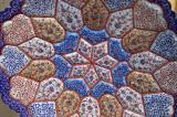 Intricate seven-color enamel plate