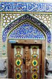 Colorful mosque door, Bazar-e Bozorg