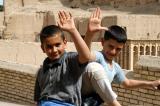 Ehsan and Yahya wave goodbye