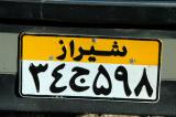 Shiraz license plate