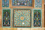Mosaic stonework panels, Jameh Mosque, Yazd