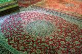 Persian carpets inside the Bogheh-ye Seyed Roknaddin