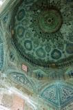Inside the dome of the Bogheh-ye Seyed Roknaddin