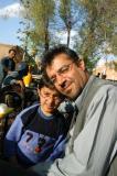 Kurdish man and son visiting Yazd