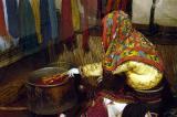 Interior of Anatolian black nomad tent
