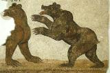 Mosaic of bears fighting (Ours aux prises) Kourba 4th C. AD
