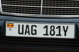 Ugandan license plate
