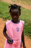Ugandan girl in pink
