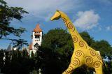 Giraffe sculpture along Kivukoni Front road west of the Lutheran Church, Dar es Salaam