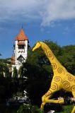 Giraffe & Lutheran Church tower
