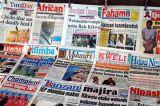 Tanzanian newstand, Dar es Salaam