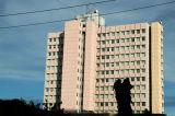 Pink apartment block, Dar es Salaam