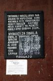 Prayer times posted at the mosque in Dar es Salaam