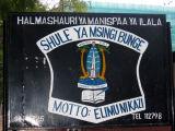 School in Dar - Shule Ya Msingi Bunge - interesting the use of the German Schule