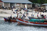 Boats beached near the Fish Market, Dar es Salaam