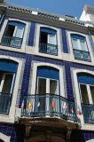 Blue tile covered Hotel Anjo Azul, Barrio Alto