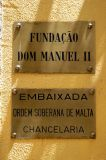 Embassy of the Sovereign Order of the Knights of Malta, Rua Paiva de Andrada, Lisbon