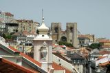Sé Catedral in the distance across the rooftops of Baixa