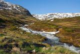 Snowmelt fed stream, Aurlandsvegen highlands