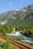 Norwegian Railroad along the Rauma River