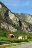 Farm in the valley along E136