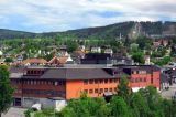 View of Lillehammer from the Mølle Hotel
