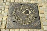 Lillehammer Olympic logo on manhole cover