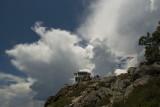 Saddleback w storm clouds gathering 29 July 09