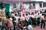 Flag Day 1982 Tappita Liberia - Go America