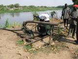 Irrigation pumps on Juba Island