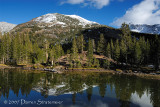 High sierra lake reflection,Yosemite