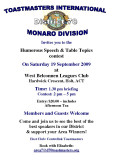 2009 Monaro Humorous and Table Topics Contest