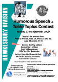 2009 Hawkesbury Division Humorous and Table Topics contest