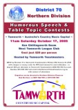 2009 Northern Division Humorous and Table Topics contest