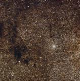 Barnard 110, 113 et 104 dans l'Ecu de Sobieski